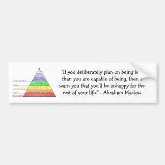 A hierarquia de Maslow das necessidades Adesivo Para Carro
