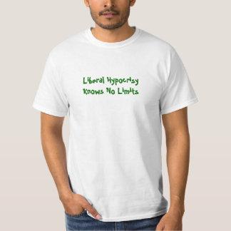 A hipocrisia liberal não sabe nenhum limite camisetas