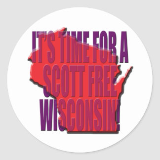 A hora para um Scott livra Wisconsin Adesivos Redondos