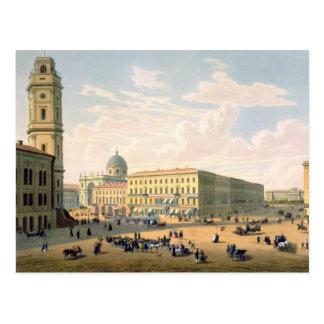 A igreja Católica e a rua de Mikhailovskaya Cartão Postal