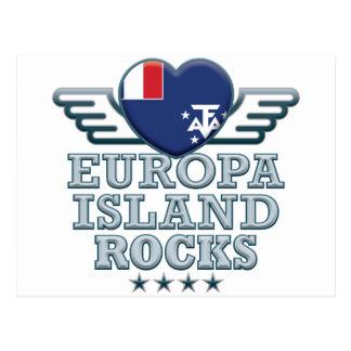 A ilha de Europa balança v2 Cartão Postal