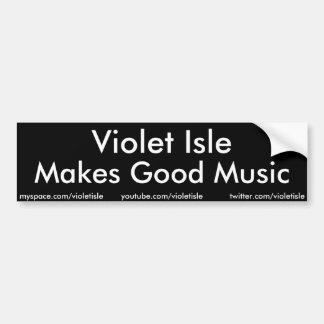 A ilha violeta faz a boa etiqueta da música adesivo para carro