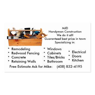 A imagem 2 de MJD, MJDHandyman ConstructionWe Cartão De Visita