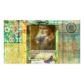 A imagem de William Shakespeare personaliza com Cartoes De Visita