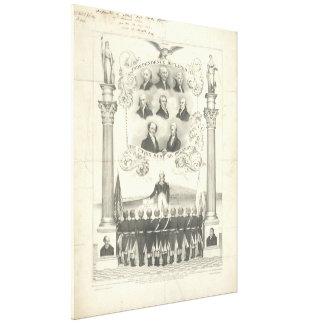 A independência declarou Litho 1776 por Thomas Impressão Em Tela