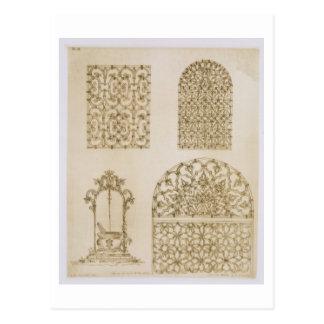 A indústria siderúrgica islâmica grelha para janel cartão postal