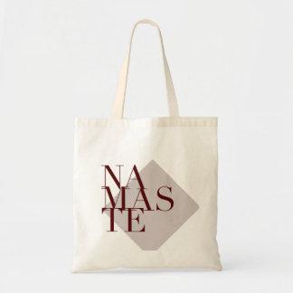 A ioga chique de Namaste inspirou o saco cinzento Bolsa Tote