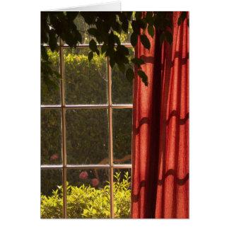 A janela de Peter Cartão Comemorativo