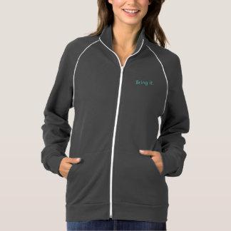 A jaqueta atlética das mulheres trá-lo