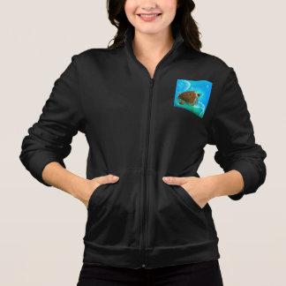 A jaqueta das mulheres da natação da tartaruga