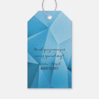 A jóia da safira tonifica Tag do presente de