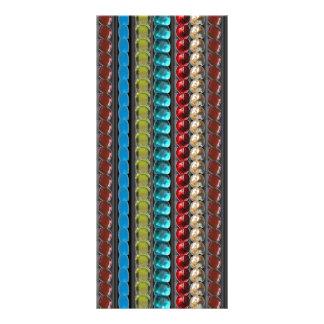 A jóia peroliza as pedras do cristal que WEDDING o 10.16 X 22.86cm Panfleto