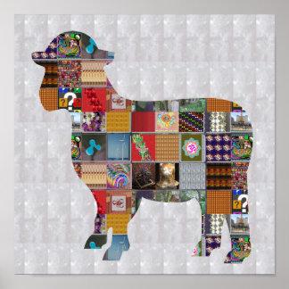 A lã da fazenda animal dos CARNEIROS CAÇOA O DIVER