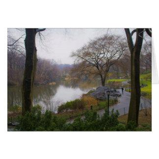 A lagoa (2) - Central Park NYC Cartão Comemorativo