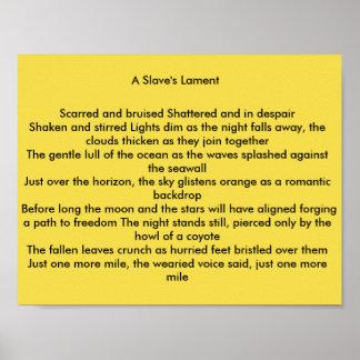 A lamentação de um escravo póster