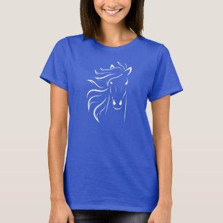 A lápis cabeça do cavalo branco de cavalos da arte t-shirts