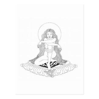 A lápis desenho de A-yé Khandro [cartão] Cartão Postal