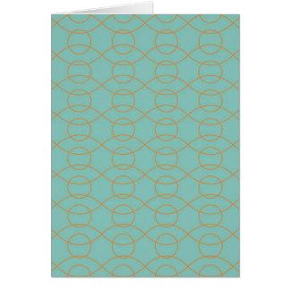 A laranja azul moderna elegante circunda listras cartão comemorativo