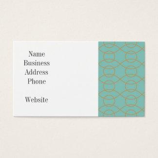 A laranja azul moderna elegante circunda listras cartão de visitas