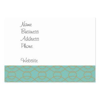 A laranja azul moderna elegante circunda listras cartão de visita grande