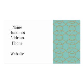 A laranja azul moderna elegante circunda listras cartão de visita
