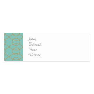 A laranja azul moderna elegante circunda listras cartão de visita skinny