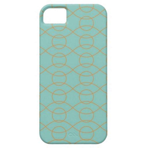 A laranja azul moderna elegante circunda listras o capas de iPhone 5 Case-Mate