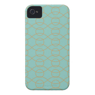 A laranja azul moderna elegante circunda listras o capa de iPhone 4 Case-Mate