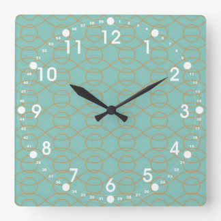 A laranja azul moderna elegante circunda listras o relógio para parede