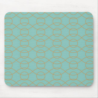 A laranja azul moderna elegante circunda listras o mouse pads