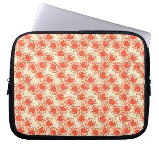 A laranja bonito floresce a bolsa de laptop do capa para notebook