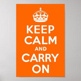 A laranja brilhante mantem a calma e continua poster