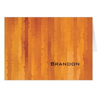 A laranja de Mitzvah do bar lista o cartão de nota