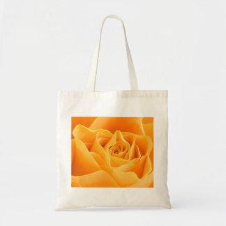 A laranja elegante aumentou sacola tote budget