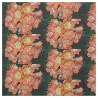 A laranja floresce o tecido de algodão de Pima