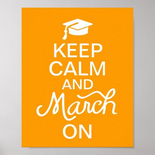 A laranja mantem a calma e o março no poster da gr pôster