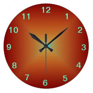 A laranja profundamente queimada lisa >Kitchen pul Relógio De Parede