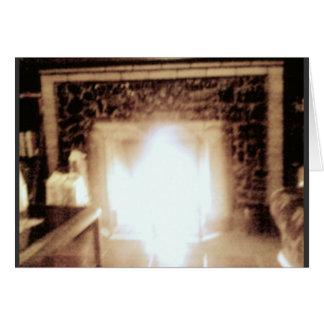 A lareira 1914 aquece-o este inverno cartão comemorativo