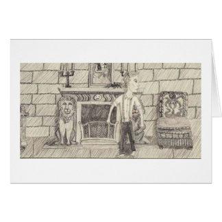 A lareira e o homem cartão comemorativo