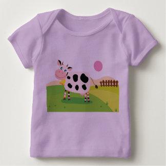 A lavanda caçoa o tshirt com vaca