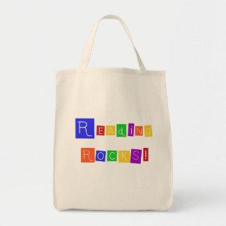 A leitura balança o camiseta e os presentes sacola tote de mercado