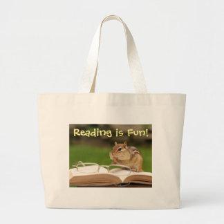 A leitura é Chipmunk Bookbag do divertimento Bolsas Para Compras