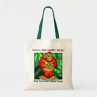 A leitura é um negócio peludo grande! bolsas de lona
