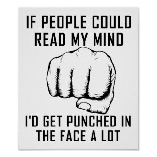 A leitura ocupa-se perfurar o poster engraçado