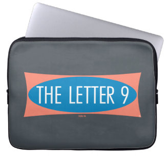 A letra 9 sleeve para notebook