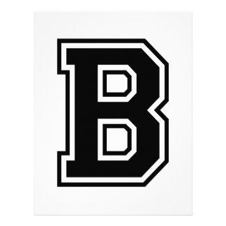 A letra B, alfabeto escolar Papel Timbrado