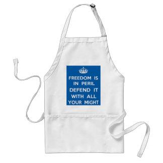 A liberdade está no perigo avental