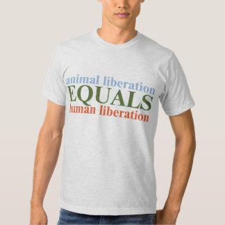 A libertação animal iguala a libertação humana tshirts