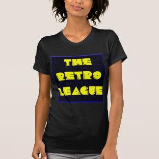 A liga retro - t-shirt do logotipo
