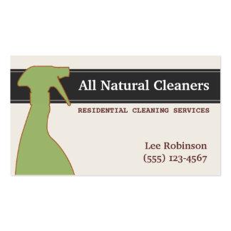 A limpeza natural orgânica presta serviços de cartão de visita